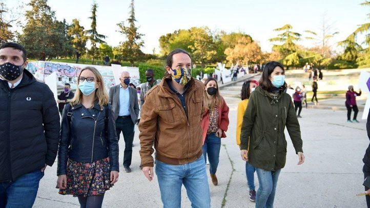 Pablo Iglesias, candidato de Unidas Podemos a la presidencia de la Comunidad de Madrid, durante el acto de inicio de campaña electoral