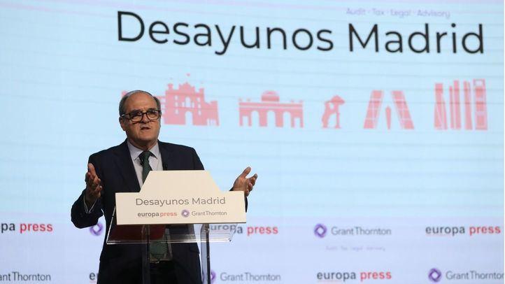 El candidato del PSOE a la Presidencia de la Comunidad de Madrid, Ángel Gabilondo, interviene en un Desayuno Madrid de Europa Press.