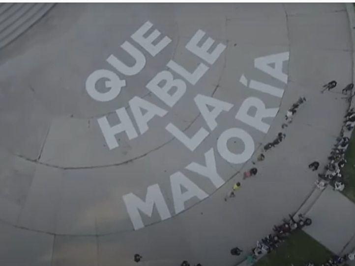 Acto de presentación del lema electoral 'Que hable la mayoría' de Unidas Podemos en las elecciones madrileñas del 4 de mayo