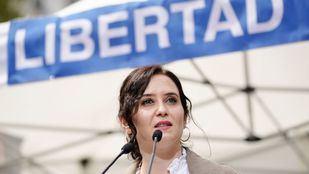 Isabel Díaz Ayuso en un mitin del PP