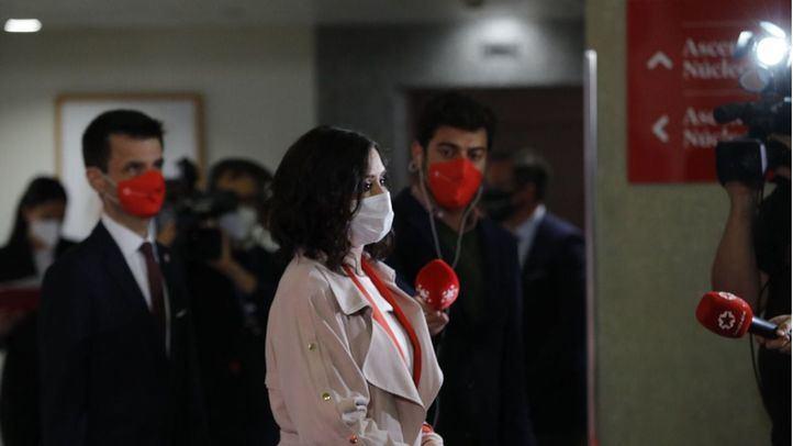 Isabel Díaz Ayuso tras el debate a seis en Telemadrid