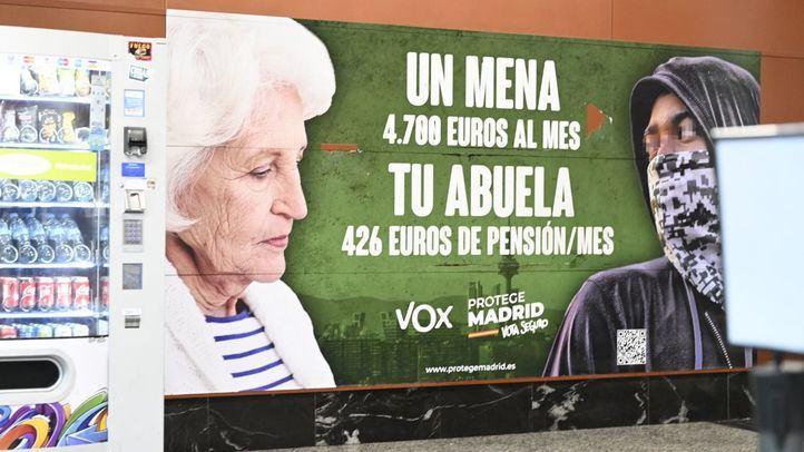 La Fiscalía pide la retirada del polémico cartel electoral de Vox