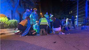 Dos heridos graves al colisionar una moto con un vehículo en Chamberí