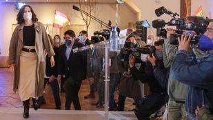 Isabel Díaz Ayuso, candidata del Partido Popular a la presidencia de la Comunidad de Madrid, durante un acto de campaña