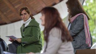 Mónica García, candidata de Más Madrid a la presidencia de la Comunidad de Madrid, durante un acto de campaña
