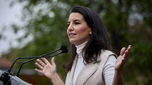 Rocio Monasterio, candidata de Vox a la presidencia de la Comunidad de Madrid, en un acto electoral en Alcalá de Henares