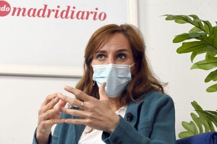 Mónica García, en una entrevista en Madridiario.
