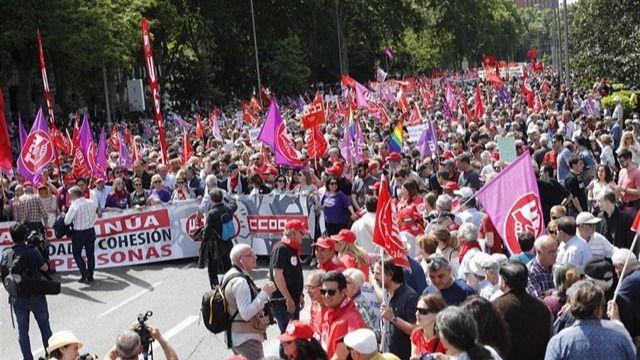 Manifestación por el 1 de mayo de2019