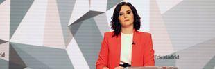 Isabel Díaz Ayuso en el debate electoral en Telemadrid