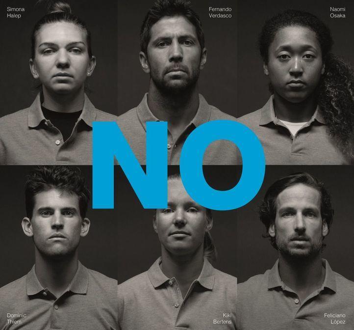 """Los mejores tenistas dicen """"no"""" al maltrato"""