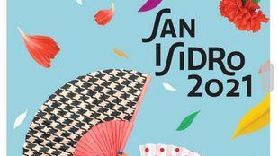 Abanicos que recuerdan a los trajes de chulapo y claveles: así es el cartel de San Isidro 2021