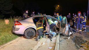 Tres heridos graves en un accidente múltiple entre tres vehículos en Vallecas