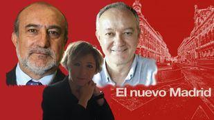 Ángel del Río, Antonio Castro y María Cano en la tertulia sobre 'El nuevo Madrid'