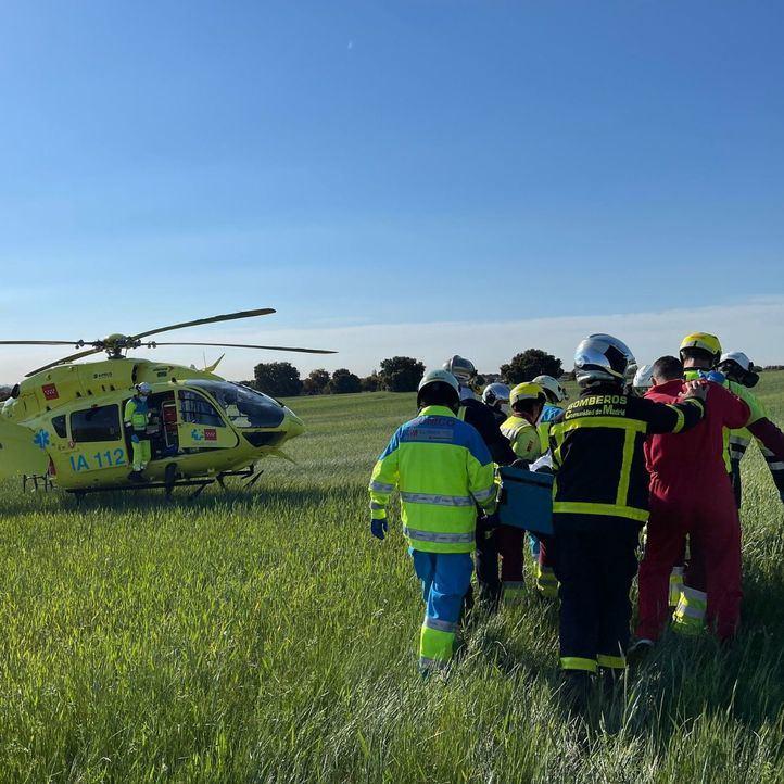 Rescatado un conductor de 53 años tras sufrir un accidente en el kilómetro 42 a la altura de Sevilla La Nueva