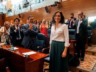 Pleno de investidura de Isabel Díaz Ayuso en la Asamblea de Madrid.