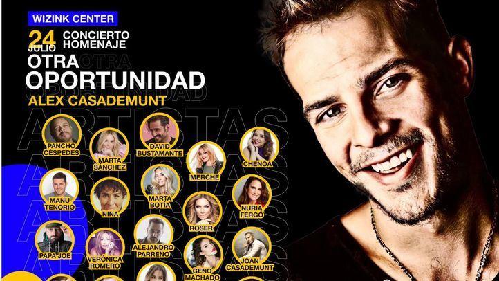 Bustamante, Marta Sánchez o Chenoa, entre otros, participarán en el concierto homenaje a Álex Casademunt