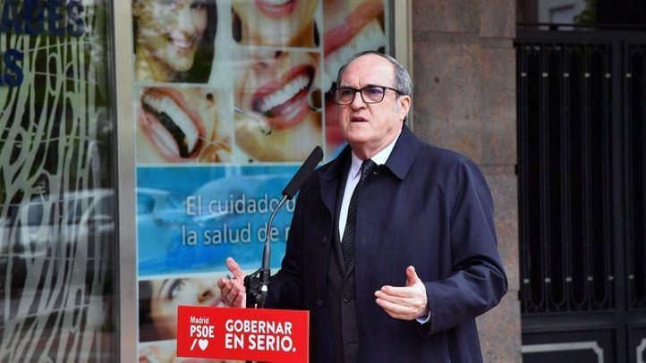 Ángel Gabilondo, durante un acto de precampaña de las elecciones 4M