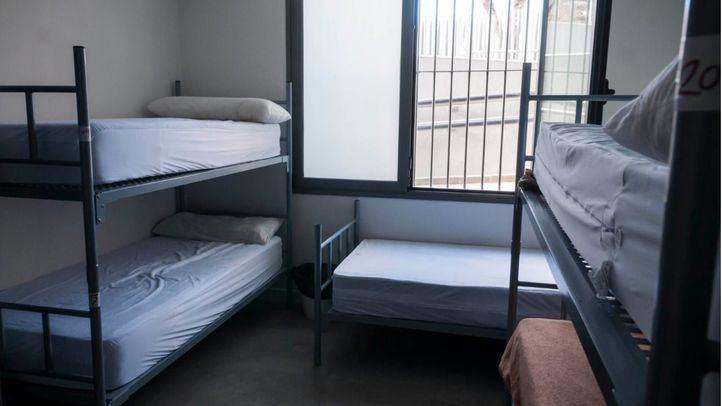 Uno de los centros para personas sin hogar del Ayuntamiento de Madrid: La Rosa.