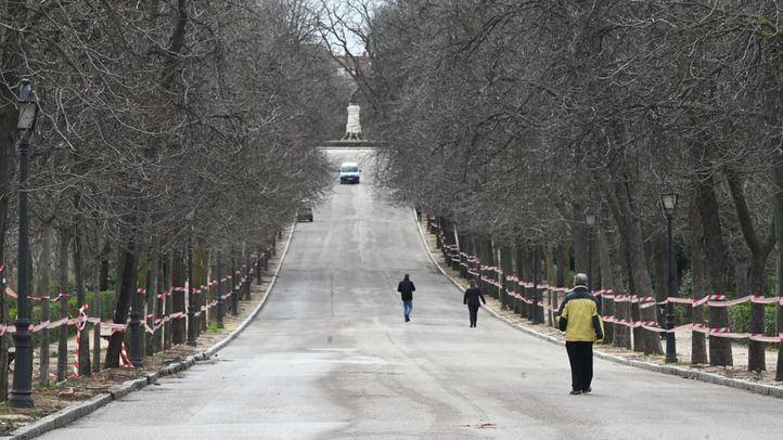 El Retiro y otros ocho parques permanecerán cerrados por fuertes rachas de viento