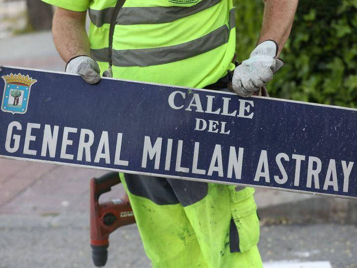 El TSJM obliga al Madrid a mantener las calles General Millán Astray y Caídos de la División Azul