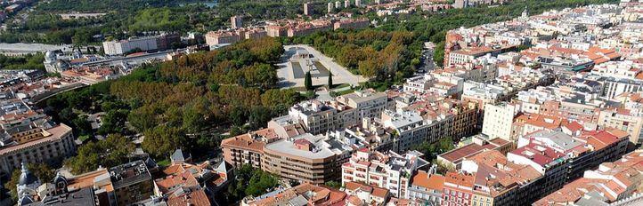 Vistas aéreas desde Torre Madrid.
