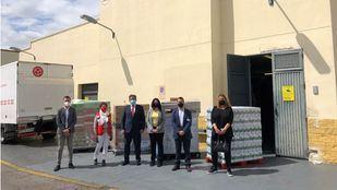 Entrega realizada a Cruz Roja Parla (Madrid)