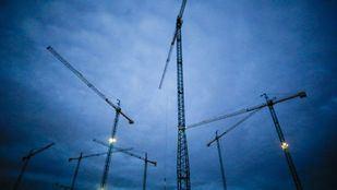 Grúas de construcción de viviendas
