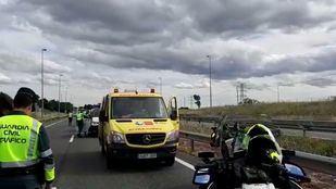Muere un motorista tras un accidente a la altura de Tres Cantos