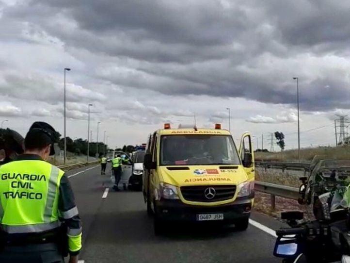 Muere un motorista de 54 años tras salirse de la carretera M-607 a la altura de Tres Cantos