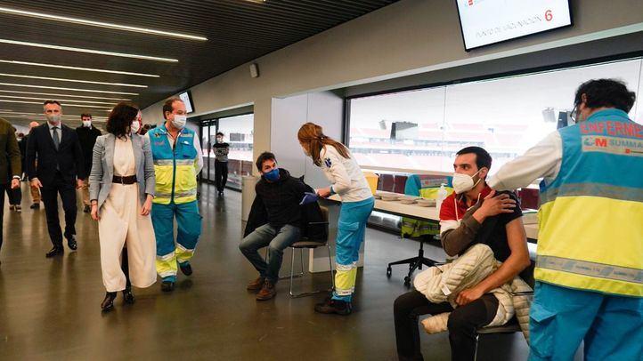 El centro de vacunación del Wanda cierra este domingo por el Atleti-Osasuna