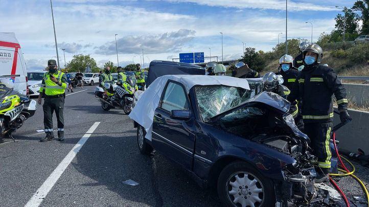 Un accidente en la M-50 deja dos fallecidos y dos heridos