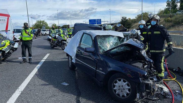Guardia Civil atribuye el accidente de la M-50 a un despiste del conductor que circulaba en sentido contrario