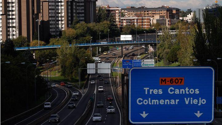 Cartel hacia la carretera de Colmenar M-607