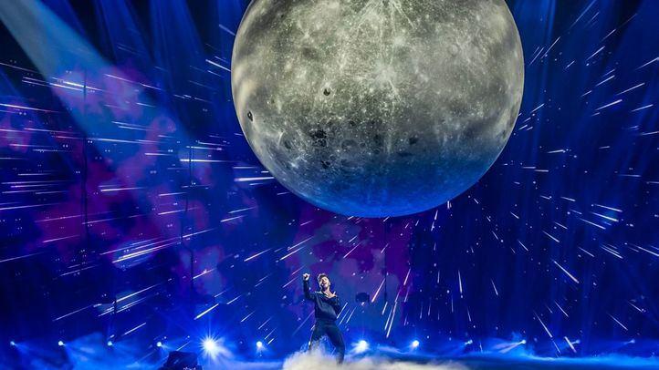 Blas Cantó durante uno de sus ensayos en Eurovisión