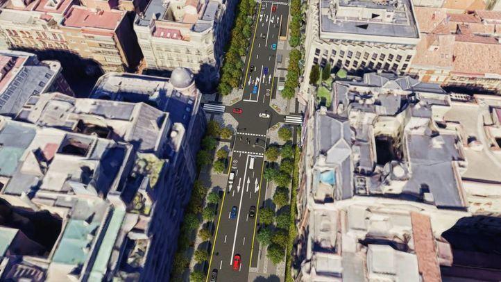 Vista de cómo quedará la calle Ortega y Gasset tras su remodelación.