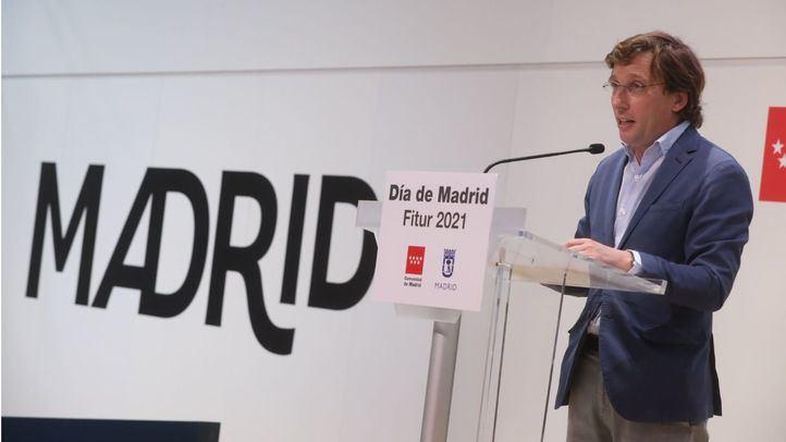 El alcalde, José Luis Martínez-Almeida, en el día de Madrid en Fitur.