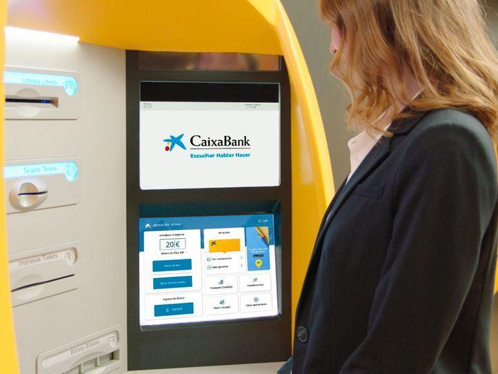 Así es la nueva plataforma tecnológica de CaixaBank en sus cajeros