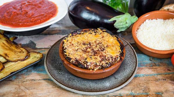 Melanzane alla parmigiana en el restaurante A vÁnvera