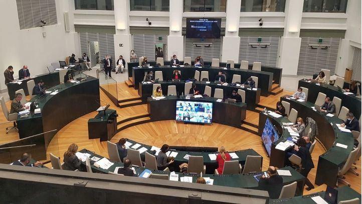 Pleno en el Ayuntamiento de Madrid.