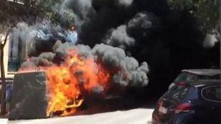 Detenido un pirómano como presunto autor del incendio de 50 contenedores en Colonia Jardín
