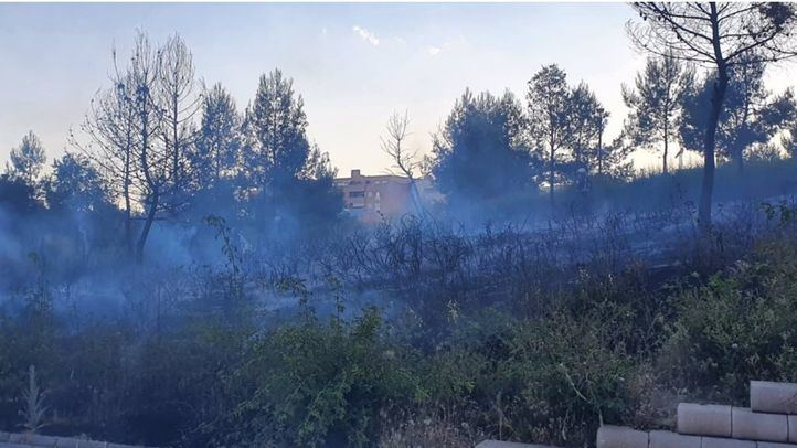 Incendio en el Parque Adolfo Suárez de Valdemoro