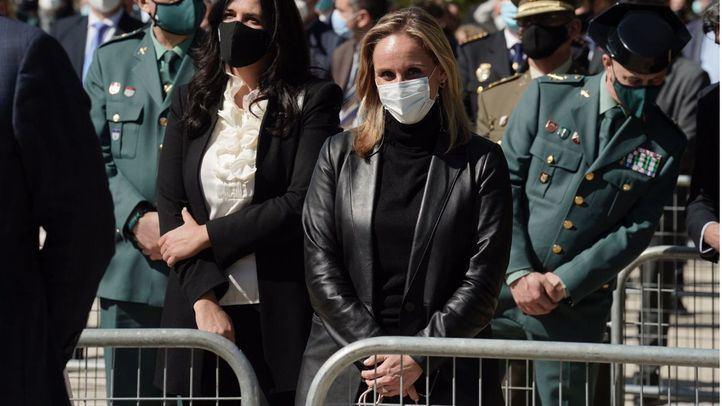 Anna Camins, secretaria general del PP madrileño en el acto homenaje a las víctimas del 11M