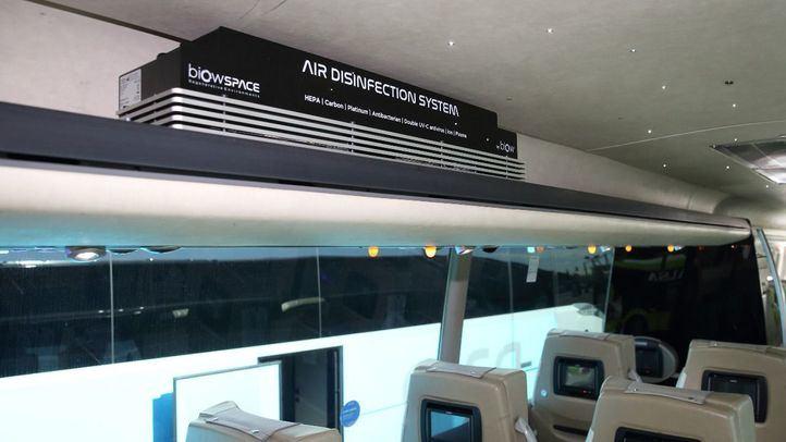 Alsa incorpora en sus autobuses el sistema de desinfección del aire Biow, primero que elimina el 99,99% de partículas y virus
