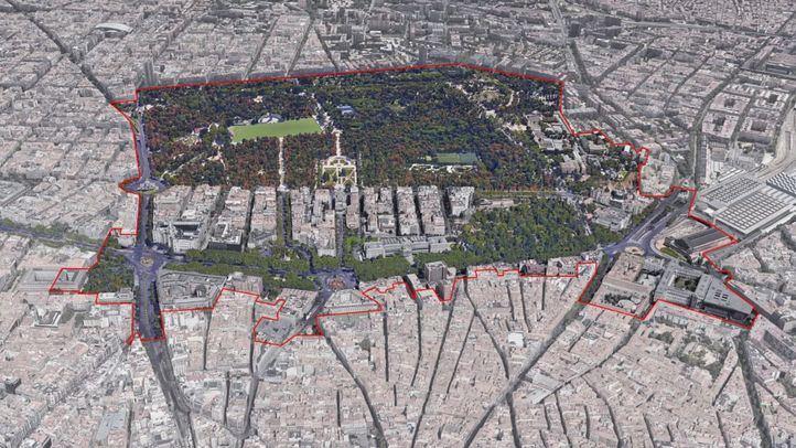 La conexión entre Retiro y Paseo del Prado, punto débil de la candidatura 'Madrid: Paisaje de la luz'