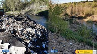 Residuos retirados del cauce del Guadarrama