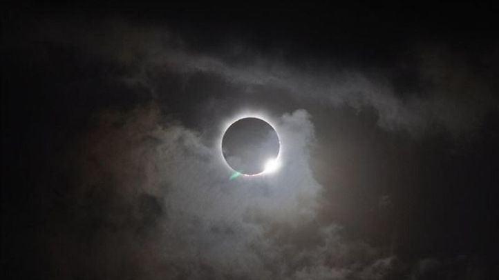 Así ha sido el eclipse solar parcial
