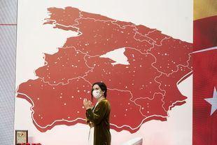 Isabel Díaz Ayuso, presidenta de la Comunidad de Madrid, durante el acto por el Día de la Comunidad de Madrid