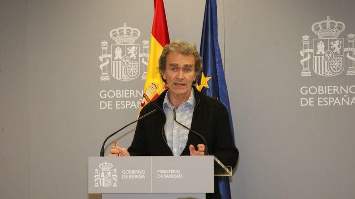 Fernando Simón en una rueda de prensa