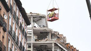 Edificio destruido en la explosión de la calle Toledo