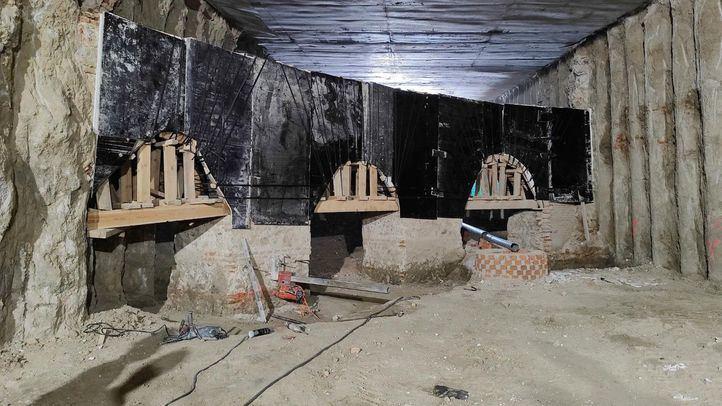Restos hallados en las obras de Plaza de España
